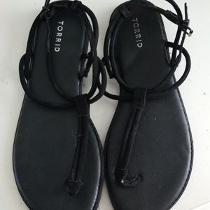 New without tag Torrid T Strap sandals size 10.5